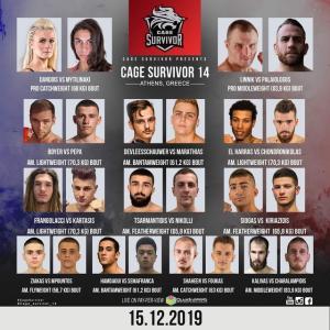 12.15、Cage Survivor 14 ジョン・パレオロゴスVSコンスタンティン・リニックほか動画