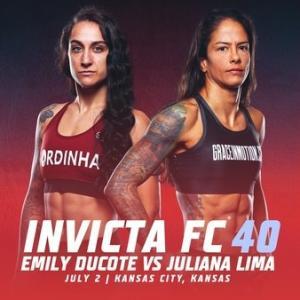 7.2、Invicta FC 40: Ducote vs. Lima エミリー・ダコーテVSジュリアナ・リマ動画