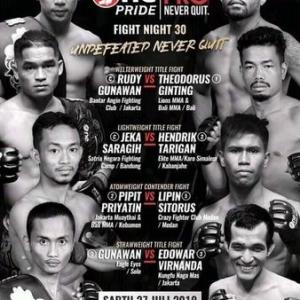 7.27、One Pride MMA Fight Night 30: Undefeated Never Quit 動画