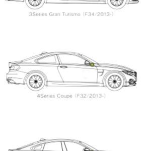 BMW、3シリーズあたりのクーペシルエット