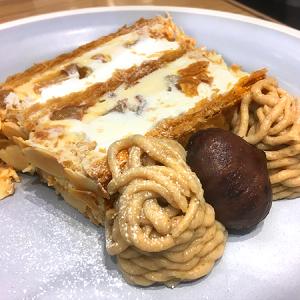 「キハチカフェ」日比谷シャンテ店 出来立てパリッサクッ!秋の「KIHACHIのマロンパイ」