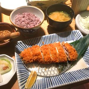 「あんず 銀座店」銀座三越11F 女性に人気!「チーズかつ膳」
