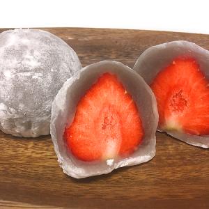 「鈴懸」ミッドタウン日比谷店 芸術的な極薄求肥に包まれてあまおうの果汁がほとばしる!「苺大福」