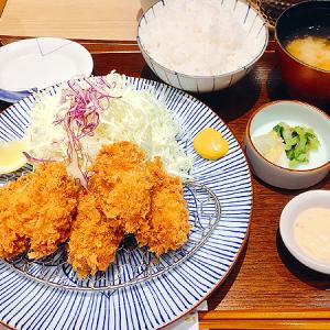 「とんかつ和幸」銀座ファイブ店 大粒のカキフライ5個!「かきフライ御膳」