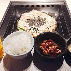 「松尾ジンギスカン銀座店」銀座5丁目 ヘルシーな羊肉と野菜たっぷり!「ラムランチセット」