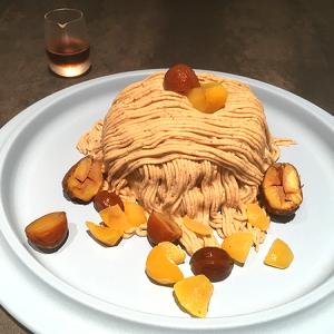「COOK BARN TOKYO(クック バーン トウキョウ)」日比谷OKUROJI 笠間栗クリームに贅沢に包まれたパンケーキ「モンブランパンケーキ」