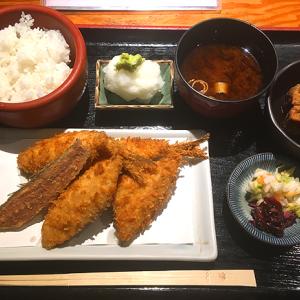 「京ばし 松輪」京橋3丁目 ランチタイム70食限定・日本一とも称される行列の「アジフライ定食」
