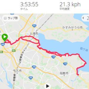 霞ケ浦湖畔を流す (ほんとは 霞ケ浦一周のつもりだったけど、、挫折、、、)