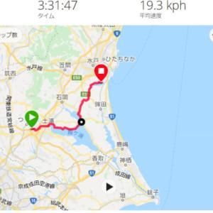 つくば ロードバイク ー 涸沼 広浦キャンプ場 キャンプツーリング その1