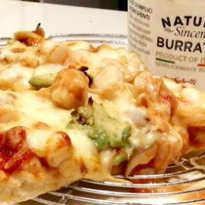 て作りpizza Burrataチーズとともに♪