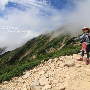 丸山2484m周辺からの景色(唐松岳登山より)