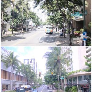 2019年末ハワイ:クヒオ通り