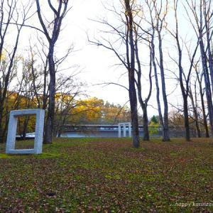 軽井沢:セゾン現代美術館のお庭で秋