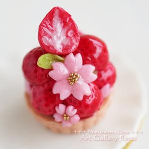 桜の苺タルト作りました!