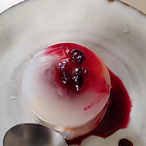 プリン型で水饅頭