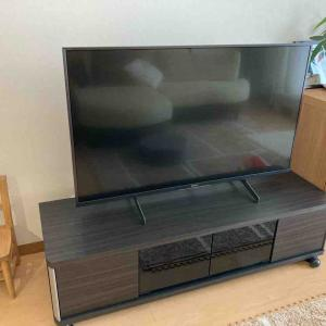 【家電】10年目のテレビを買い替えました!テレビボードも扉付きに。