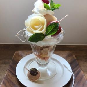 夏まつりのパフェ☆cafe days♪