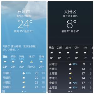 気温差16度。さぶっ。