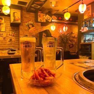 昭和レトロで落ち着く焼肉屋  大衆ホルモン焼肉酒場 江戸門 新橋店
