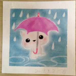 梅雨時のパステル
