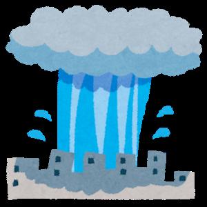 雨柱の中の雨がどれほどの激しさかが気になりました