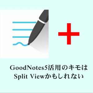 GoodNotes5活用のキモは、Split Viewかもしれない