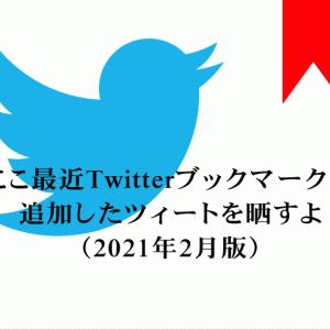 ここ最近Twitterブックマークに追加したツィートを晒すよ(2021年2月版)