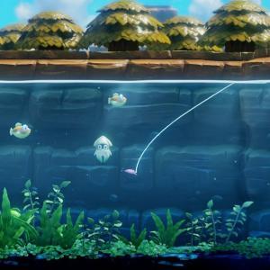 【ゼルダの伝説 夢をみる島】つりぼりの釣り。ゲッソーとプクプクの釣り方と、重いルアー