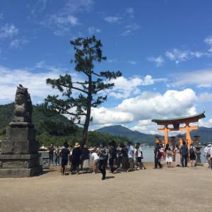 今日の宮島弥山は外国人が多かった