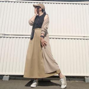 完売間近!値下げで2色目も追加購入したGUチノフレアロングスカート