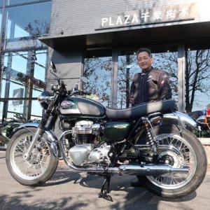 新型バイク(Kawasaki W800)納車しました。