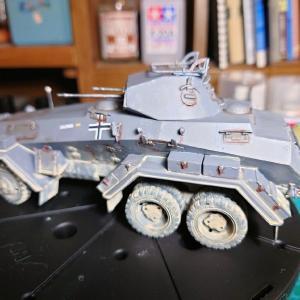 出来ました。取り敢えず(Sd.kfz.231「6輪装甲車」の製作記その6)