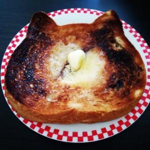 ねこの顔のパン