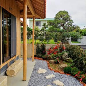 木造赤瓦 造園