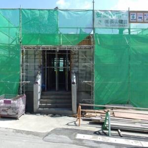 店舗付き住宅 補強CB造2階建て