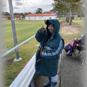 小雨でめちゃくちゃ寒かったアメフト観戦