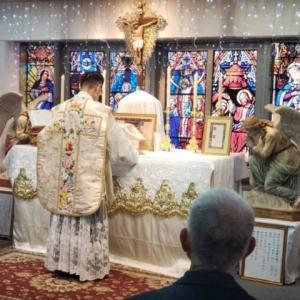 聖ピオ十世会大阪 聖母の汚れなき御心聖堂でのミサの写真 12月7日