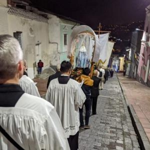 キトにある良き出来事の聖母のノベナ第三日目 聖セバスチャン教会