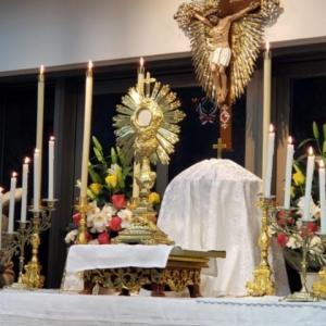 聖体降福式は聖体のうちにおける主の御へりくだりの償いである
