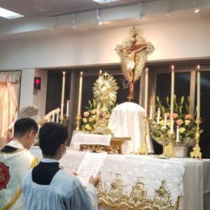 信徒たちの心が砕けるように張り裂けるように傷んでいても、御聖体に対する敬意はあたかも禁止されているかのように、多くの教会、特に日本では、御聖体は軽蔑されています。愛の秘跡は、冷たくあしらわれています。
