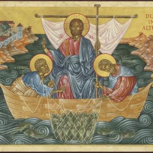 キリストの神秘体であるキリストの教会とは、カトリック教会である。カトリック教会こそ、乗らなければ私たちが救われない舟。「沖に出よ。魚を救え。多くの魚をこの舟に乗せよ。」