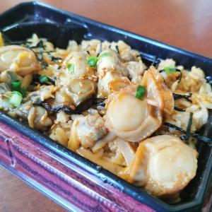 お気に入りの生協の「三種の貝づくしご飯弁当」!