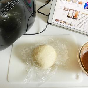 シナモンロール風食パンとオートミールスコーン