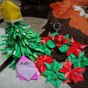 折り紙でクリスマス