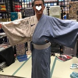 きものサローネ・洋服地でご自分で作られた男性着物。