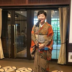 鶴11周年ランチ会・野田淳子さん素敵な紅葉の着物。