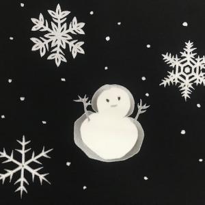 商品紹介・雪だるま染帯と雪の結晶小紋・Xmas以外にも。