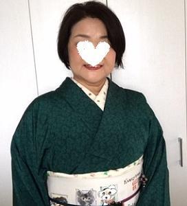人見敏男さんに描いて頂いたお客様の可愛い愛犬達の帯。