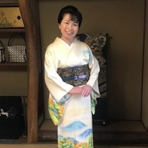 風景訪問着+池口帯・赤城紬+小糸染芸帯のお客様。