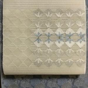 宮階織物・紋紗着物+都・絽綴八寸前太鼓コーデ。